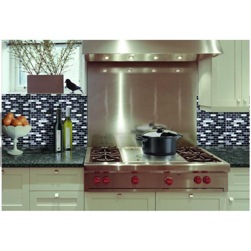 Achim in x in magic gel mosaic decorative - Decorative wall tiles for kitchen backsplash ...