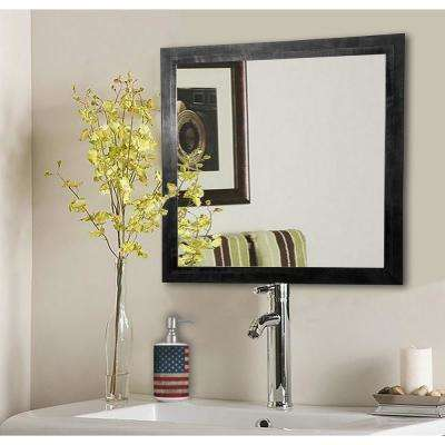 15.5 in. x 15.5 in. Black Smoke Square Vanity Wall Mirror