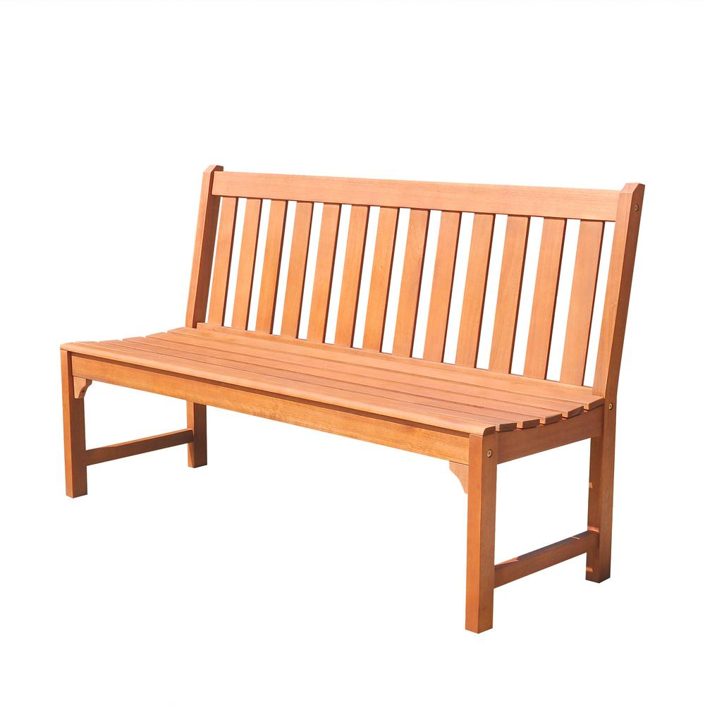 Vifah Malibu 5 Ft Armless Patio Bench V1638 The Home Depot