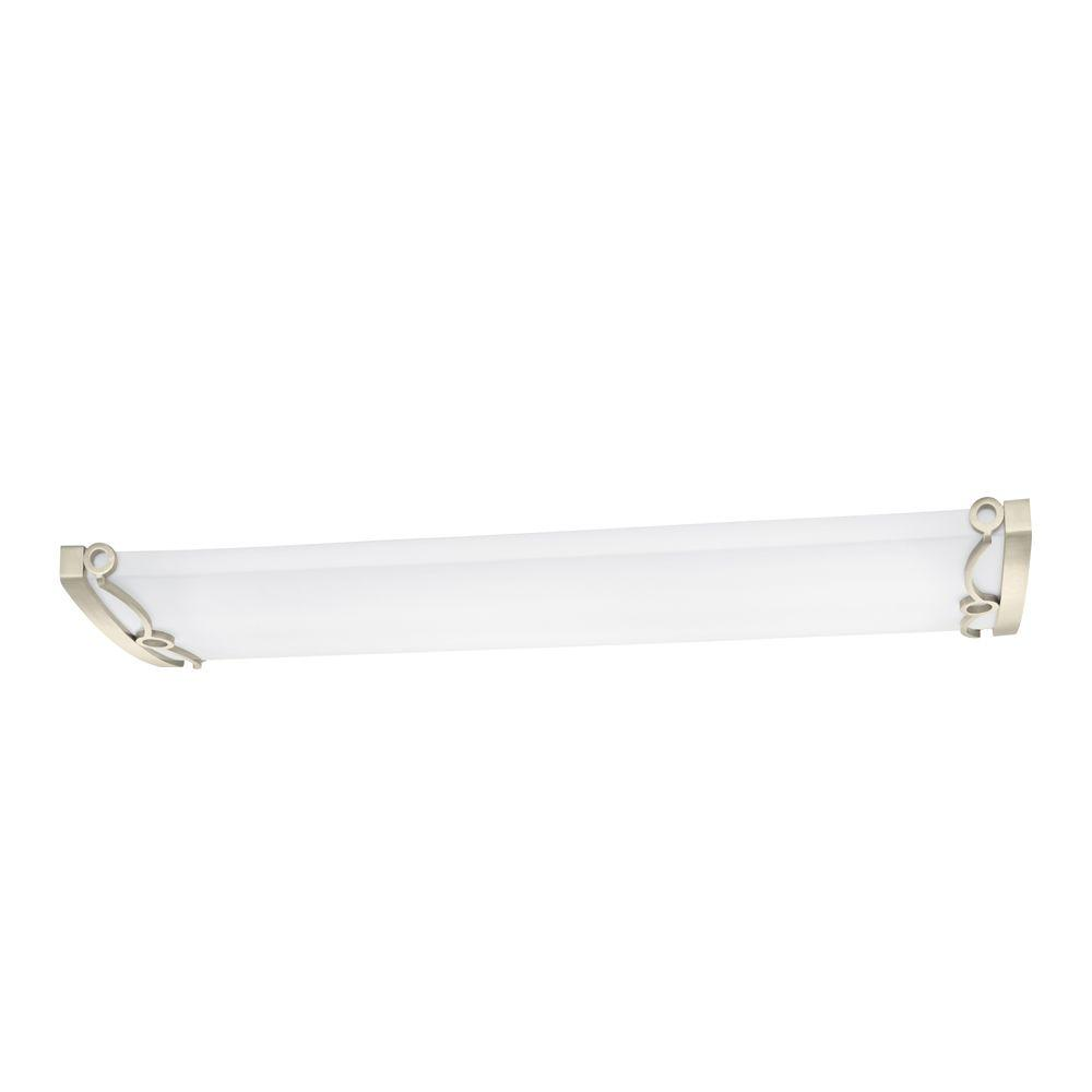Regency 4-Light Brushed Nickel T8 Fluorescent Ceiling Light