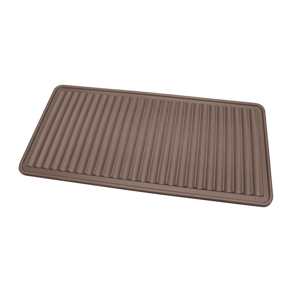 weathertech 16 in x 36 in boot tray idmbt1br the home depot. Black Bedroom Furniture Sets. Home Design Ideas