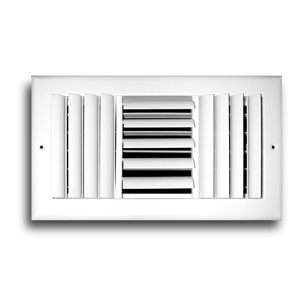 TruAire 14 in. x 6 in. 3 Way Aluminum Adjustable Curved Blade Wall/Ceiling Register