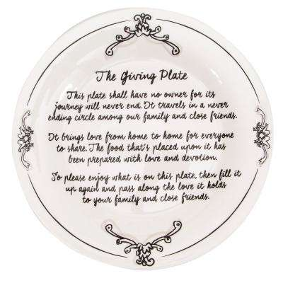 The Katie and Mandy Stoneware Giving Plate