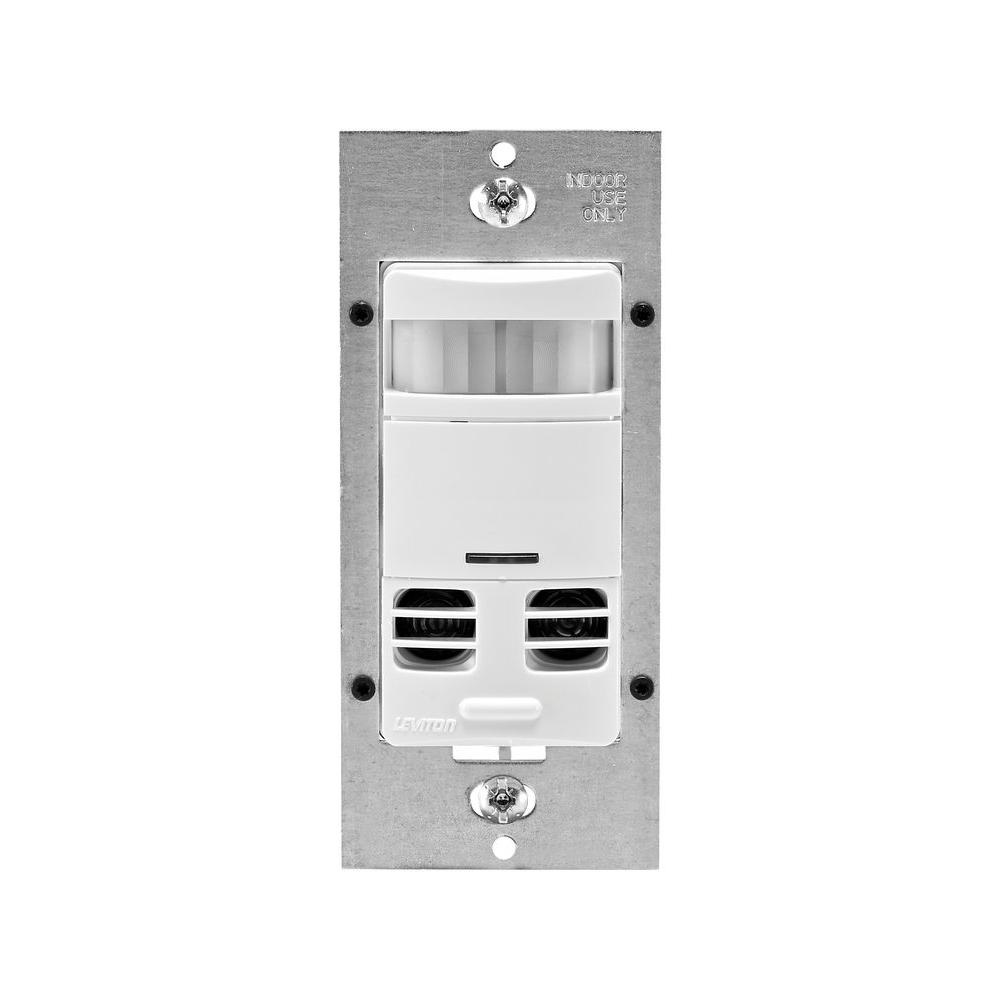 Leviton Decora Dual-Relay Multi-Technology Deluxe Fan and Occupancy Sensor with Delay - White-DISCONTINUED