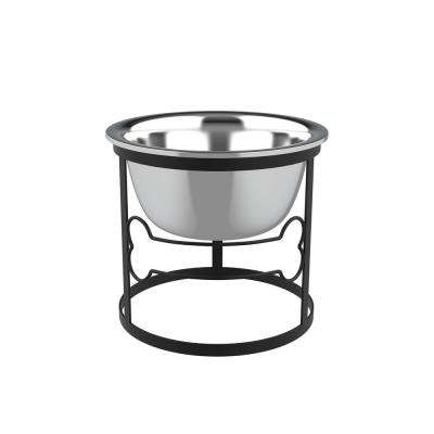 40 oz. Stainless Steel Elevated Pet Bowl with Stand