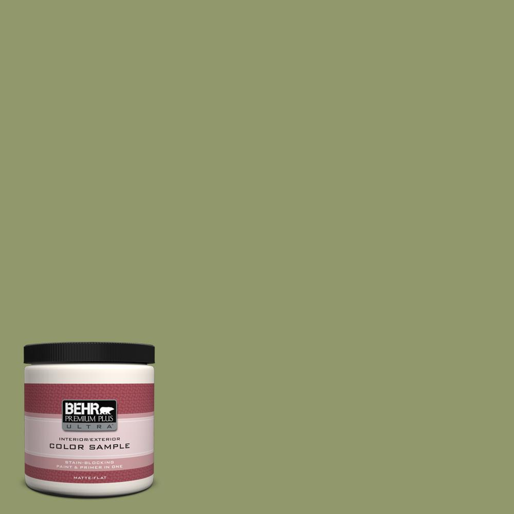 8 oz. #HDC-SP14-2 Exotic Palm Flat/Matte Interior/Exterior Paint Sample