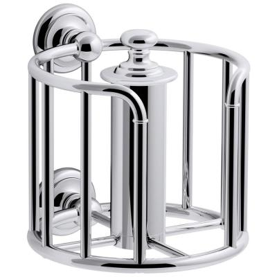 Artifacts Double Post Toilet Paper Holder in Polished Chrome