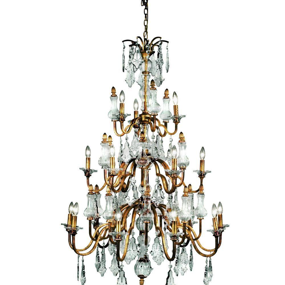 Eurofase Adivina Collection 18-Light 180 in. Antique Gold Chandelier-DISCONTINUED