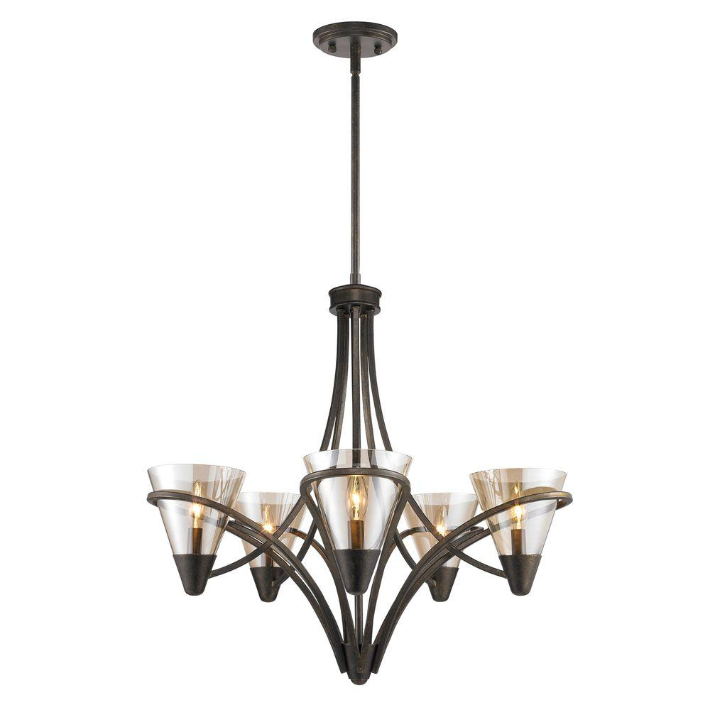 Emmalyn Collection 5-Light Burnt Sienna Chandelier