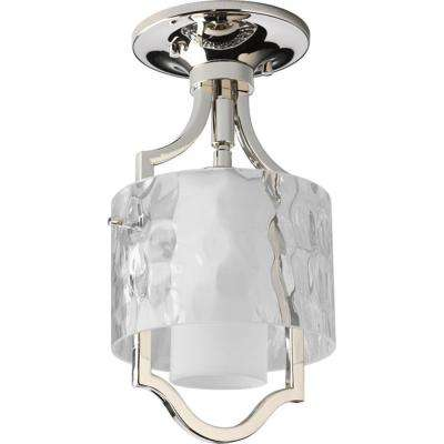 Caress Collection 1-Light Polished Nickel Mini Pendant