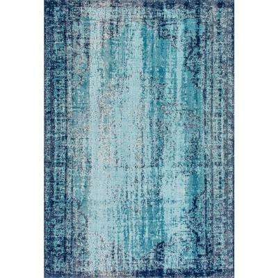 Distressed Vance Blue 8 ft. x 10 ft. Area Rug