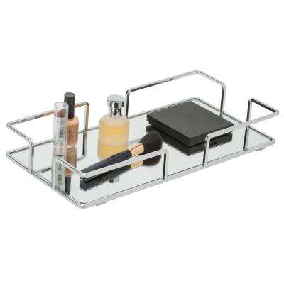 Modern Rectangular Design Mirror Vanity Tray