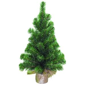24 in. 65-Tip Table Top Tree with Burlap Sack