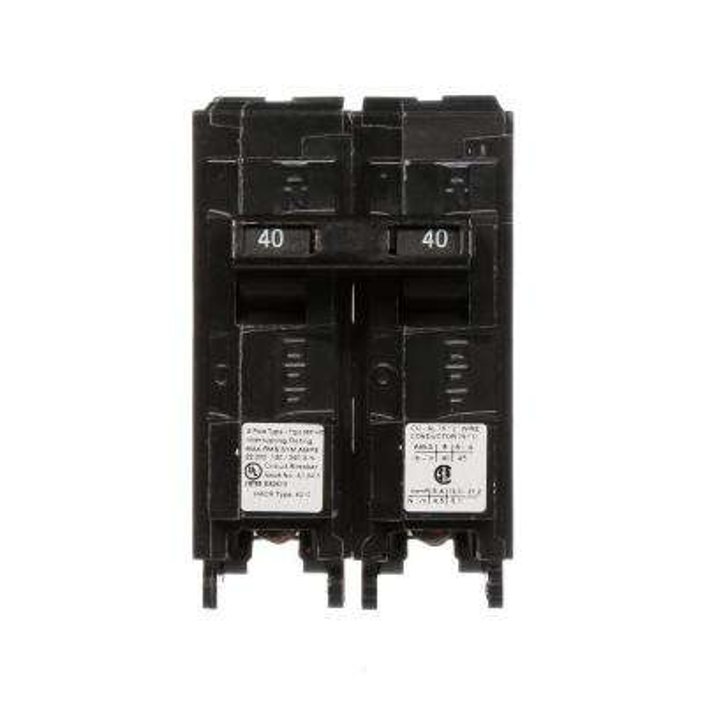 40 Amp Double-Pole Type MP 22 kA Plug-In Circuit Breaker
