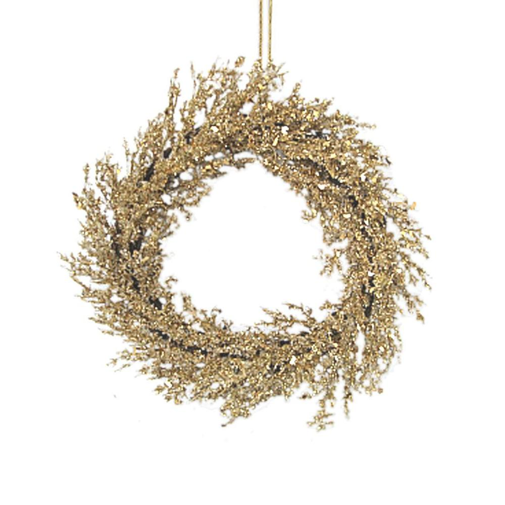 Home Accents Holiday 24 in. Gold Wreath