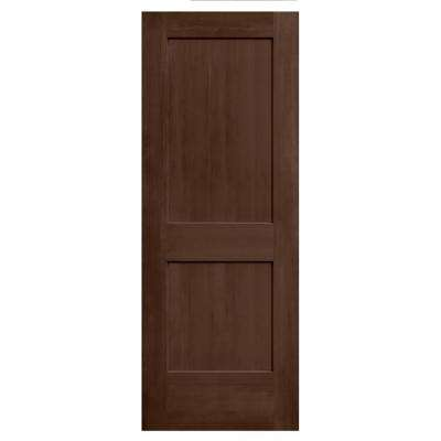 24 in. x 80 in. Monroe Milk Chocolate Stain Solid Core Molded Composite MDF Interior Door Slab