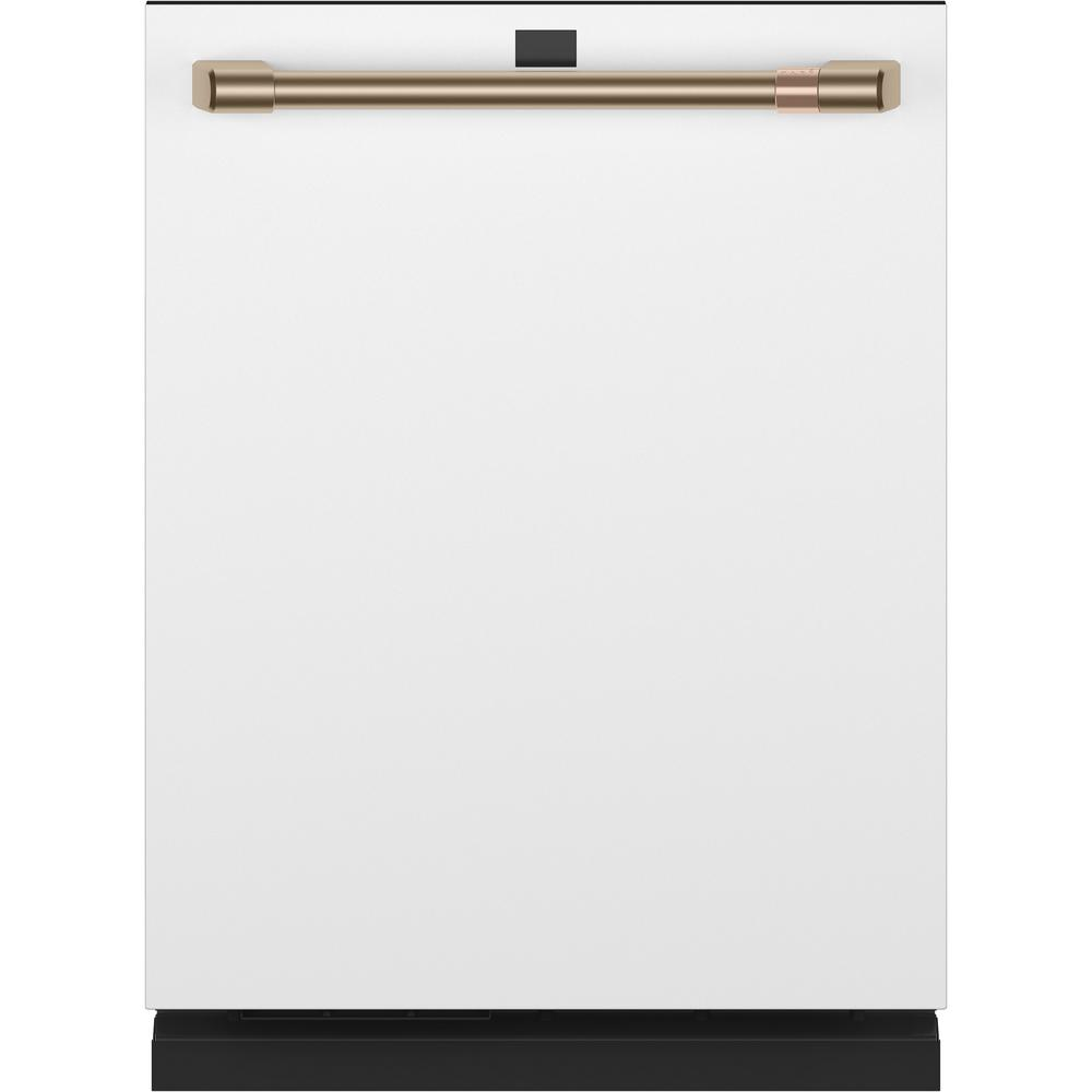 Cafe Smart Top Control Tall Tub Dishwasher in Matte White with Stainless Steel Tub, Fingerprint Resistant, 39 dBA
