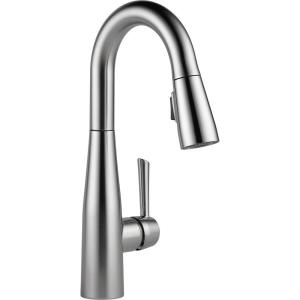 Delta Essa Single-Handle Bar Faucet with MagnaTite Docking in Arctic Stainless by Delta