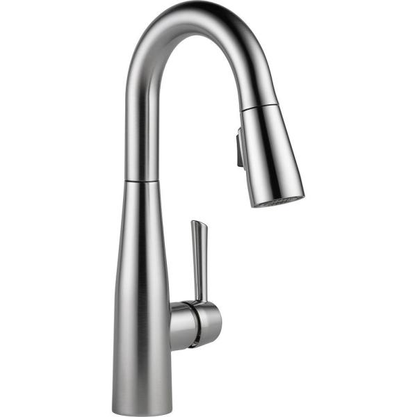 Essa Single-Handle Bar Faucet with MagnaTite Docking in Arctic Stainless
