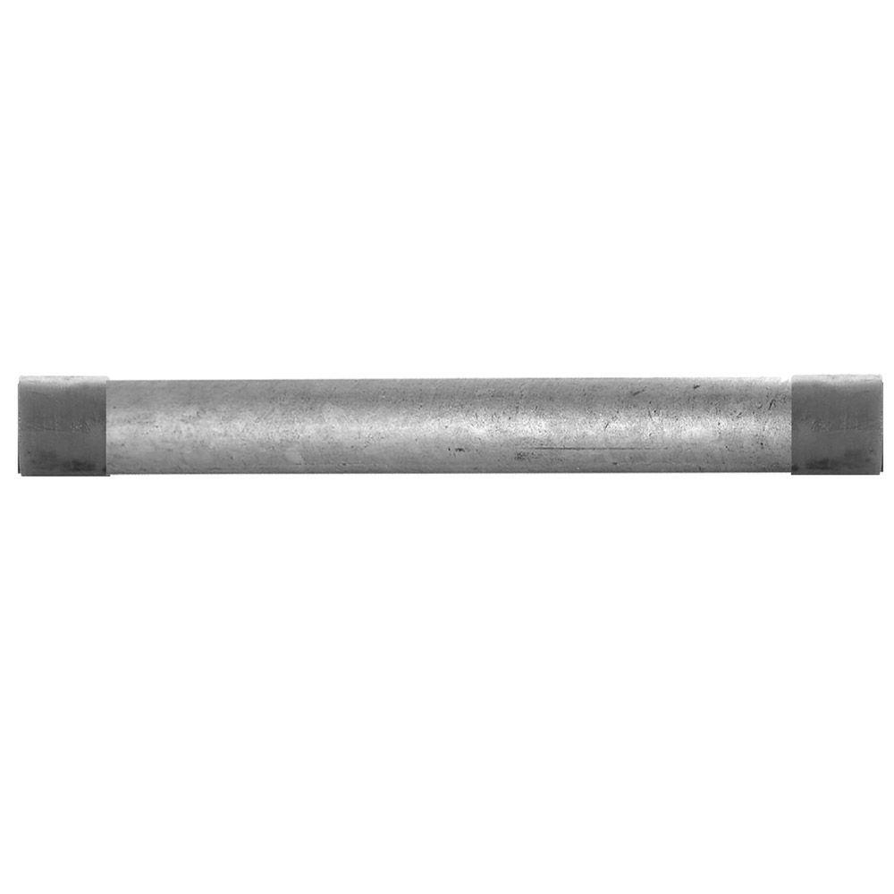 LDR Industries 1/2 in. x 2.5 ft. Galvanized Steel Schedule 40 Cut Pipe