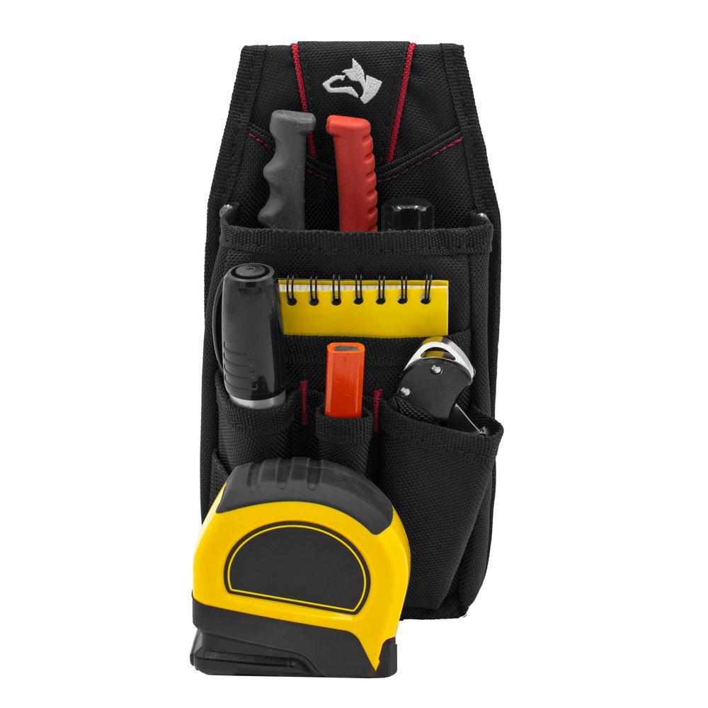 7-Pocket Black Utility Tool Pouch