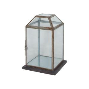 Titan Lighting Display Lantern with Wood Base by Titan Lighting