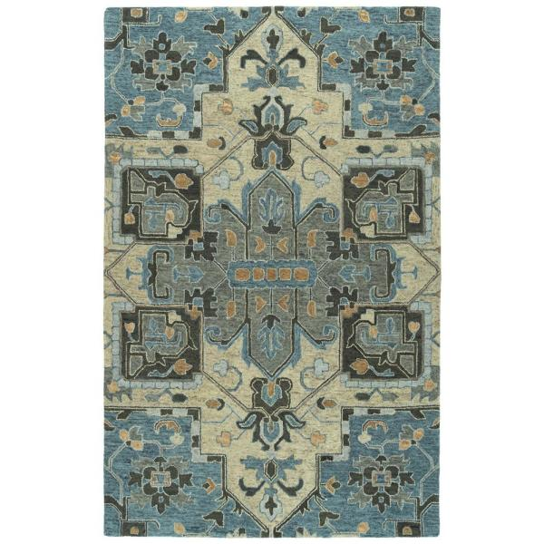 Kaleen Chancellor Blue 10 Ft X 14 Ft Area Rug Cha09 17 1014 The Home Depot