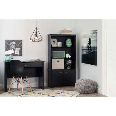 Vito Pure Black Storage Open Bookcase