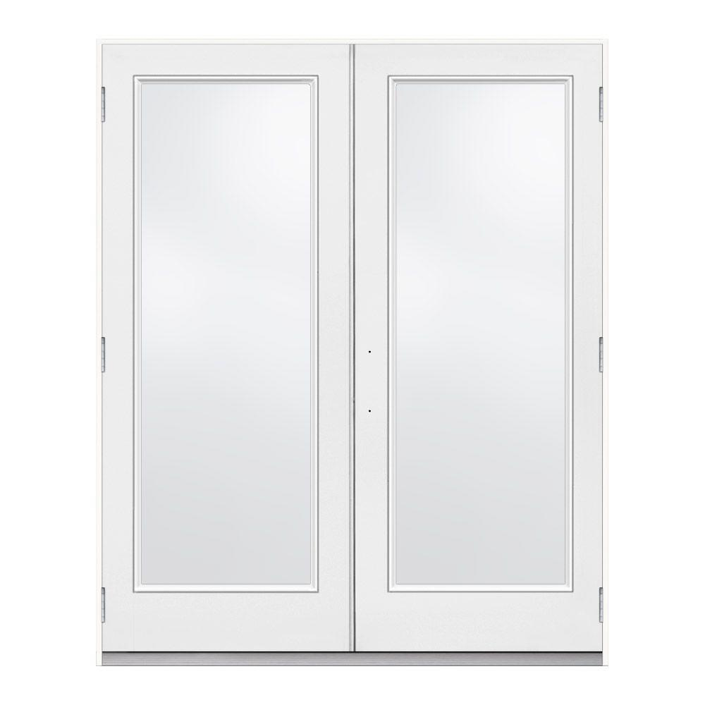 Jeld wen 72 in x 80 in white left hand outswing french 1 for Outswing french doors home depot