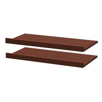 30 in. x 3 in. Rollout Shelves Drawer with Fence in Mocha (2-Pack)