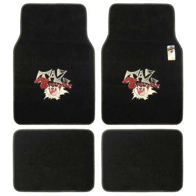 Looney Tunes WBMT-1201 Taz 4 Pieces Carpet Car Floor Mats
