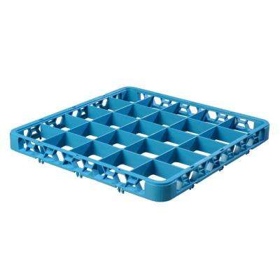 19.75 in. x 19.75 in. 25-Compartment Optional Accessory Extender for OptiClean Glass washing Racks in Blue (Case of 6)