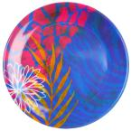 Gibson Home Psycho Tropical Multicolored Dessert Plate