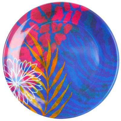 Psycho Tropical Multicolored Dessert Plate (Set of 4)