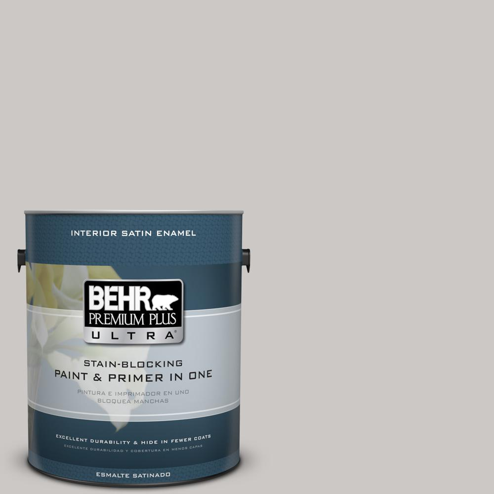 1 gal. #PPU26-09 Graycloth Satin Enamel Interior Paint