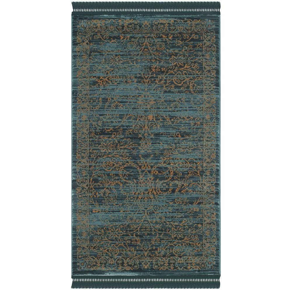 Safavieh Serenity Turquoise/Gold 3 Ft. 3 In. X 5 Ft. 3 In