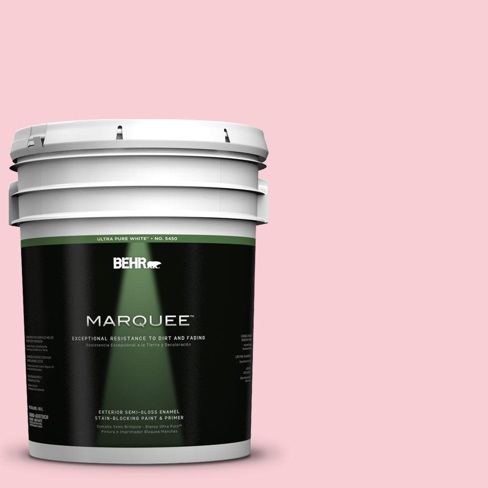 Behr Marquee 5 Gal 130a 2 Fading Rose Semi Gloss Enamel Exterior Paint 545005 The Home Depot