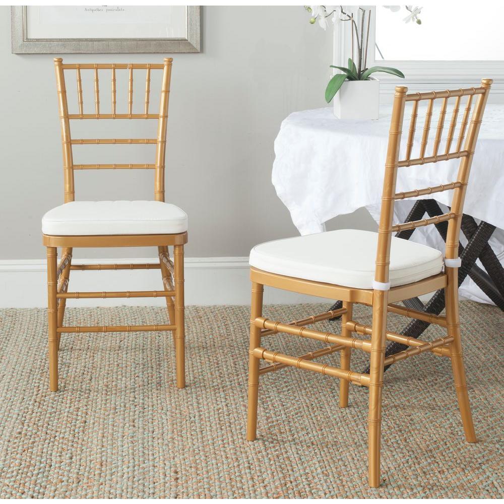 Safavieh Carly Gold Side Chair (Set Of 2)-FOX8000C-SET2