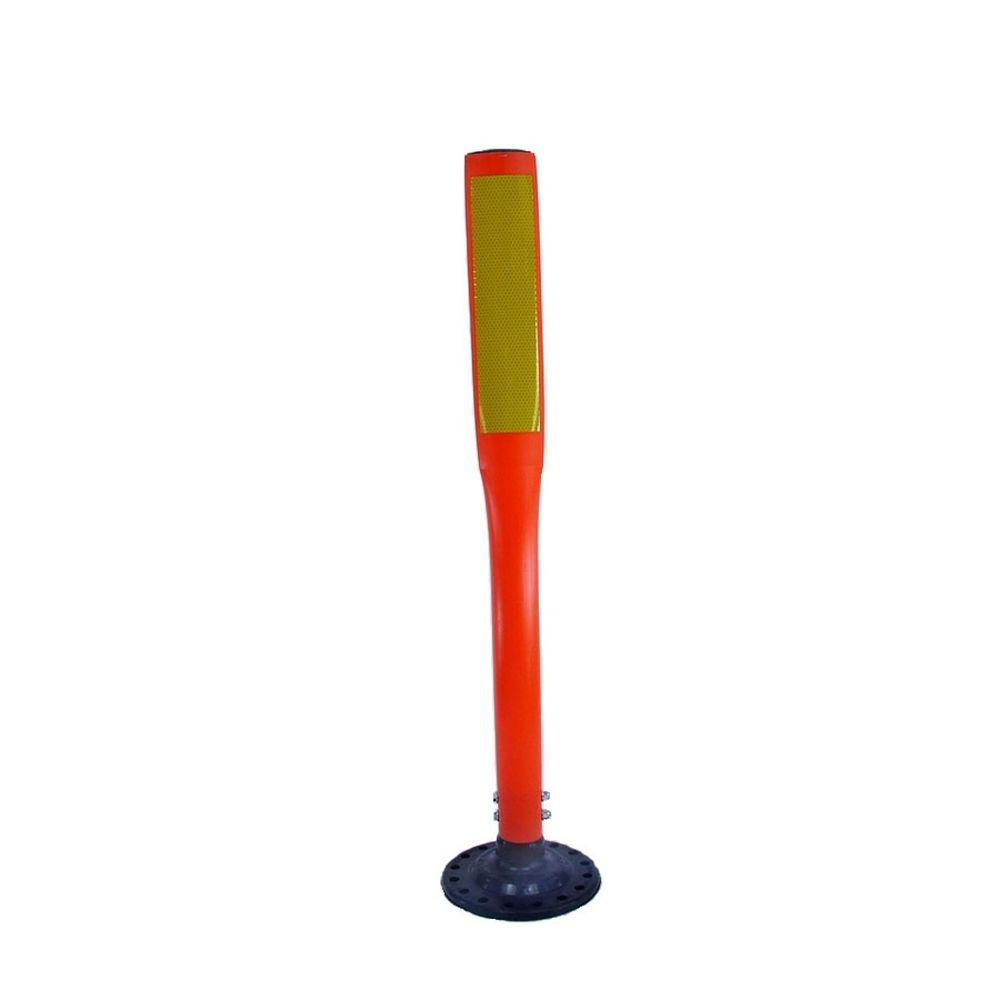 36 in. Orange Flat Delineator Post with 3 in. x 12