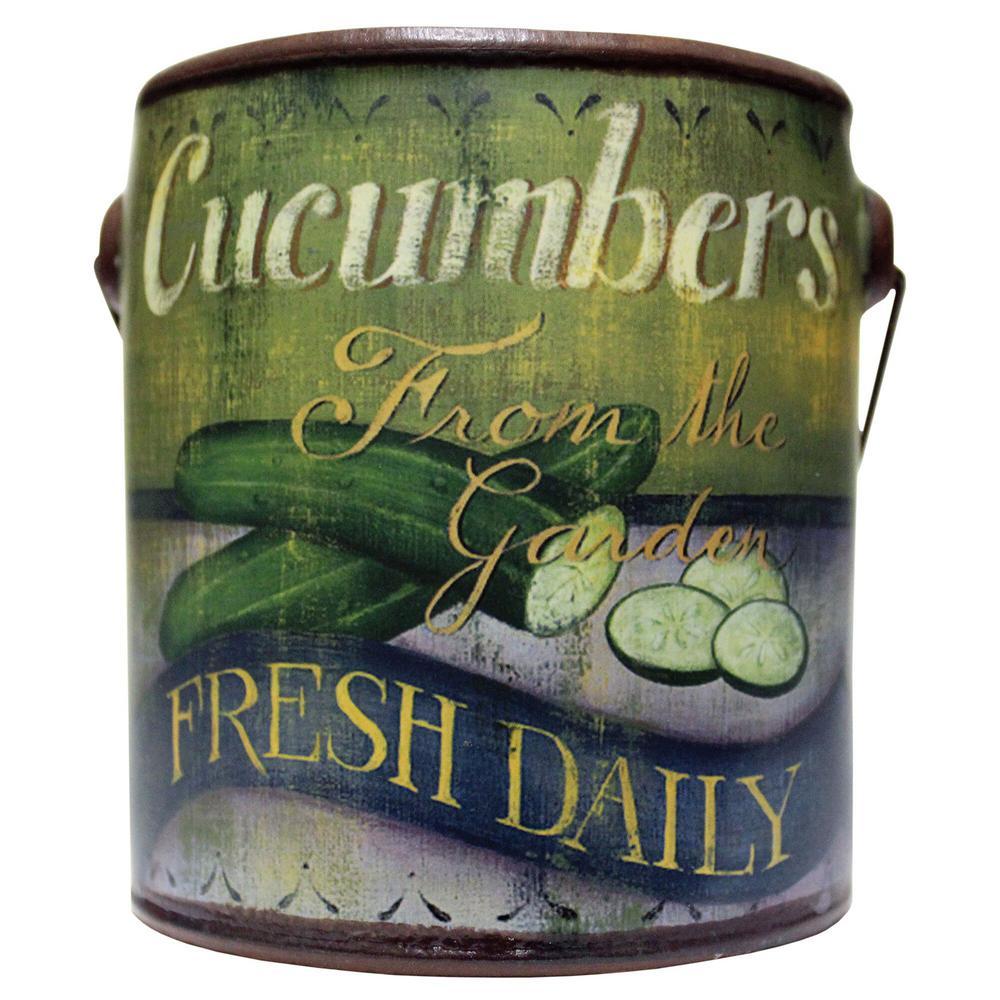 Farm Fresh Ceramic Candle Cucumbers