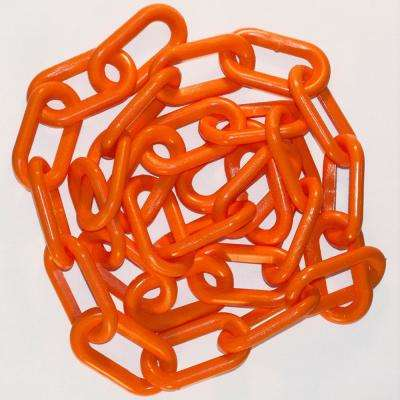 1.5 in. (#6, 38 mm) x 50 ft. Safety Orange Plastic Chain