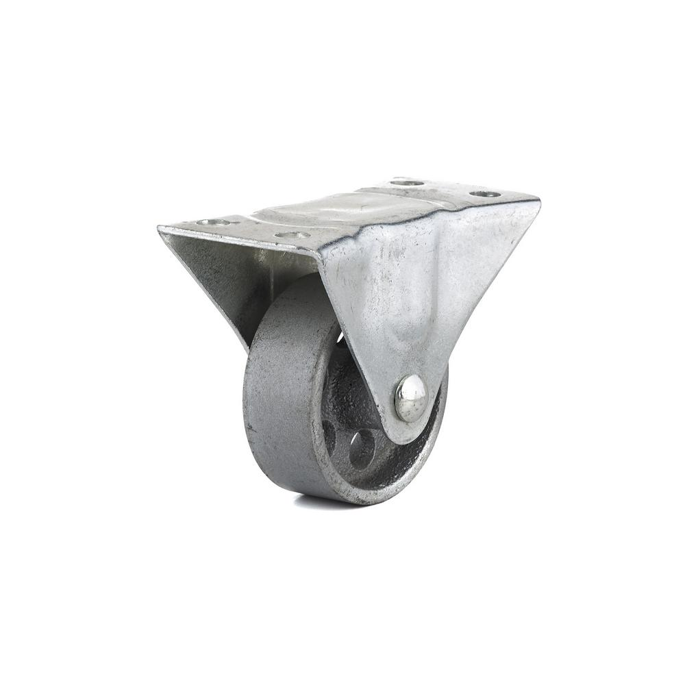 2-1/2 in. Metal Fixed plate Caster, 176.4 lb. Load Rating