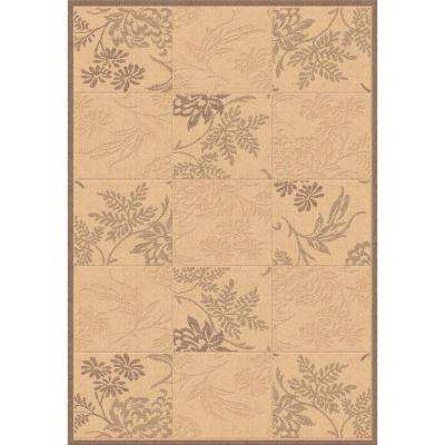 Piazza Natural/Brown 5 ft. x 8 ft. Indoor/Outdoor Area Rug