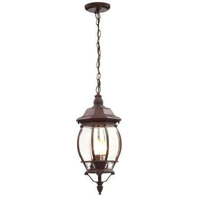 Concord 3-Light Outdoor Hanging Old Bronze Lantern
