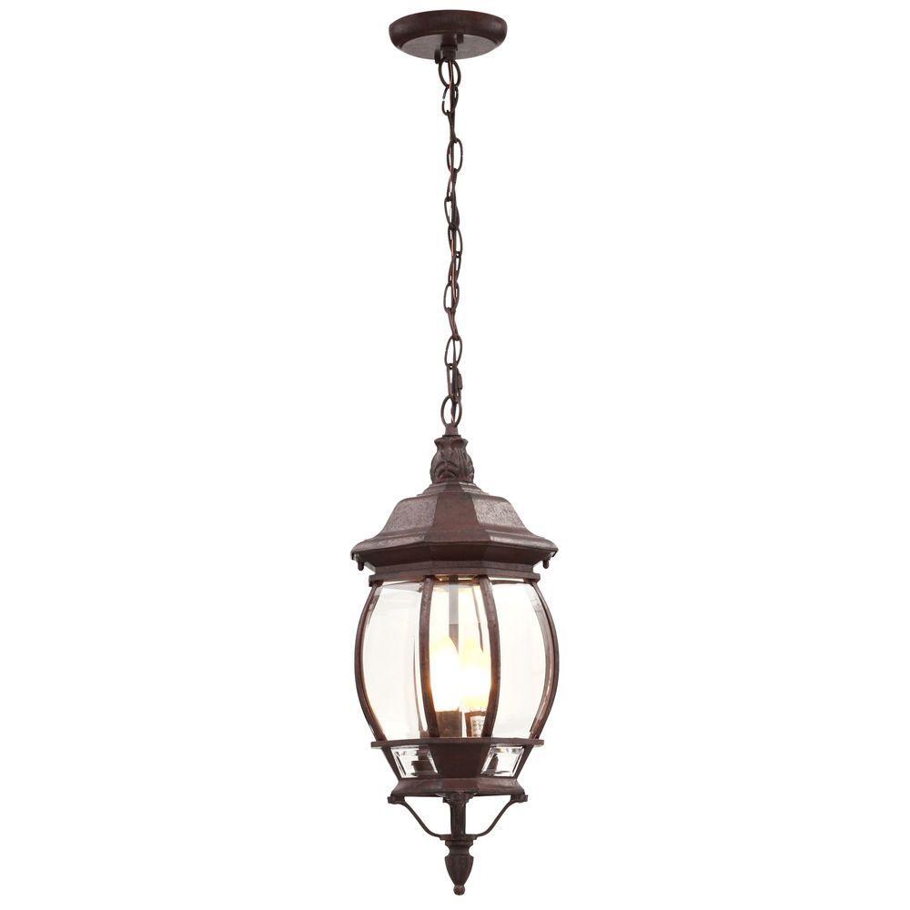 Concord 3-Light Outdoor Hanging Old Bronze Lantern