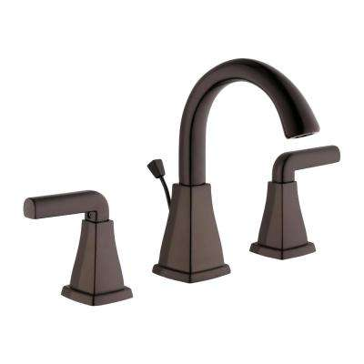 Brookglen 8 in. Widespread 2-Handle High-Arc Bathroom Faucet in Bronze