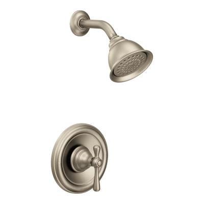 Kingsley Single-Handle 1-Spray Shower Faucet Trim Kit Only in Brushed Nickel (Valve Not Included)