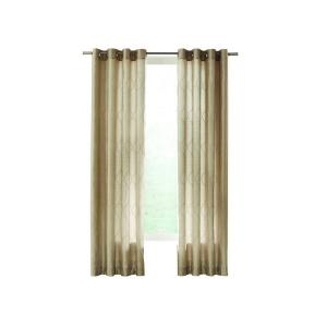 Home Decorators Collection Beige Hourglass Embroidered Lined Curtain 50 In W X 108 In L