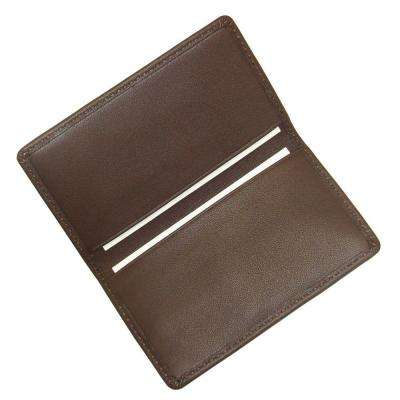 Brown Business Card Case in Genuine Leather