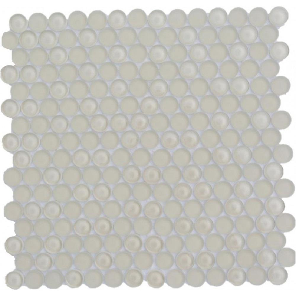 Ivy Hill Tile Contempo Beige Circles 11-12 in. x 12 in. 8 mm Polished  and  Frosted Glass Mosaic Tile(0.96 sq. ft. )